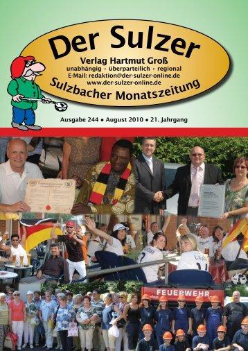 bar kein sauberes Sulzbach - Der Sulzer