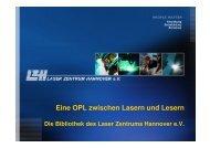 Eine OPL zwischen Lasern und Lesern - OPUS Bayern