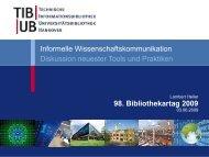 Diskussion neuester Tools und Praktiken - OPUS Bayern
