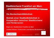 Stadtbücherei Frankfurt am Main - OPUS Bayern