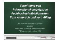 Vermittlung von Informationskompetenz in ... - OPUS Bayern