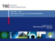 SCOAP3-DH-Gold Open Access in der Hochenergiephysik-Wo ...