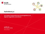 Fachreferat 3.0 - mit Campus Communities den ... - OPUS Bayern