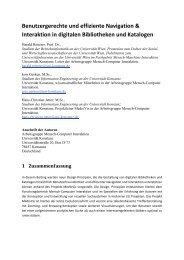 Benutzergerechte und effiziente Navigation & Interaktion in digitalen ...