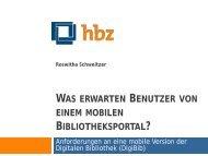 Was erwarten Benutzer von einem mobilen Bibliotheksportal ...