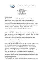 Mehr als: der Zugang zum EU-Recht - OPUS Bayern