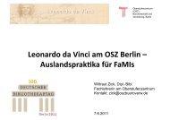 Leonardo da Vinci am OSZ Berlin – Auslandsprak ... - OPUS Bayern