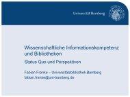 Wissenschaftliche Informationskompetenz und ... - OPUS Bayern