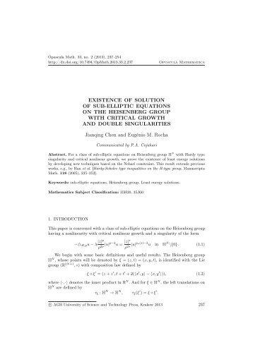 Article - opuscula mathematica - AGH