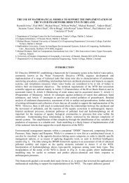 the use of mathematical models to support the implementation of the ...