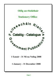 Government Publications Catalogue 2008 - The Office of Public Works