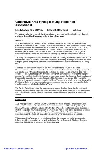 Caherdavin Area Strategic Study: Flood Risk Assessment