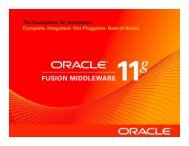 Oracle Fusion Middleware 11g Investor Presentation
