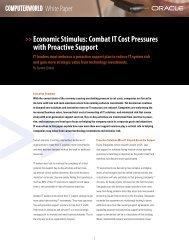 Computerworld: Economic Stimulus White Paper   Oracle Support