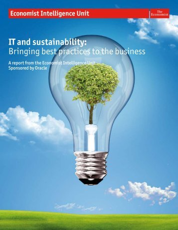 IT and sustainability: Bringing best practices to the business - Oracle