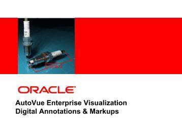 AutoVue Markup Presentation - Oracle