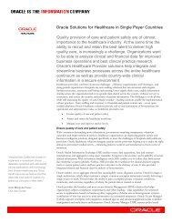 Healthcare Provider Solutions - Oracle