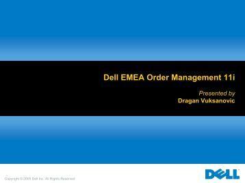 Dell EMEA Order Management 11i (PDF) - Oracle
