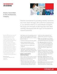 Oracle: Committed to the Life Sciences Industry - Brochure | Oracle