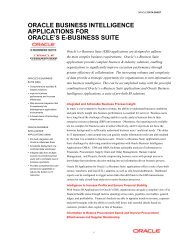 Oracle Business Intelligence Applications Data Sheet