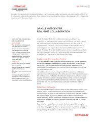 Oracle WebCenter Real-Time Collaboration Data Sheet