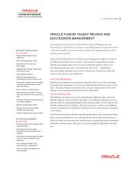Oracle Fusion Talent Review and Succession Management