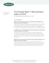 The Forrester Wave: B2B Commerce Suites, Q4 2013 - Oracle