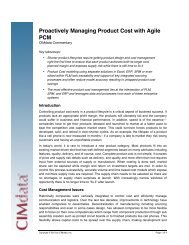 CIMData, Proactively Managing Product Cost with Agile PCM - Oracle