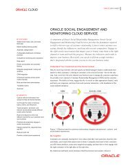 Oracle Social Engagement and Monitoring Cloud Service Data Sheet