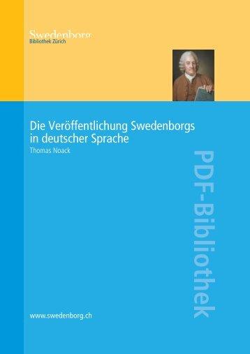 Die Veröffentlichung Swedenborgs in deutscher Sprache - Orah.ch