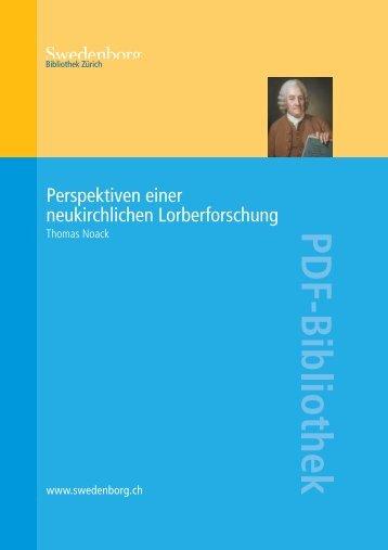 Perspektiven einer neukirchlichen Lorberforschung - Orah.ch