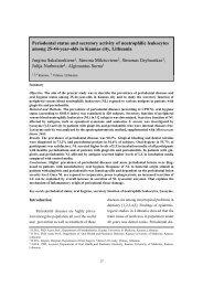 Periodontal status and secretory activity of neutrophilic leukocytes ...