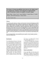 Prevalence of temporomandibular joint sideways disc displacement ...