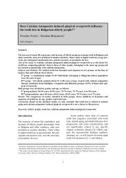 Does Calcium Antagonists induced gingival overgrowth influence ...