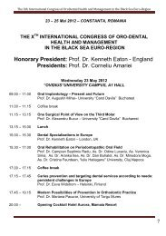 Al X-lea congres cu participare internationala de sanatate ...