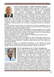 Prof. Dr. Corneliu Amariei - Oral Health and Dental Management