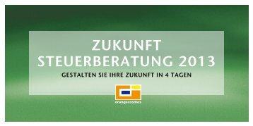 ZUKUNFT STEUERBERATUNG 2013 - Orange Cosmos