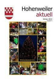 Hohenweiler aktuell - Winter 2012