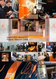 registration document France Telecom 2009 - Orange.com