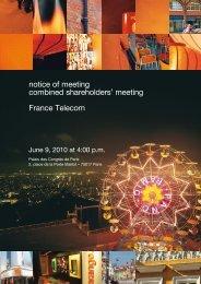 notice of meeting combined shareholders' meeting ... - Orange.com