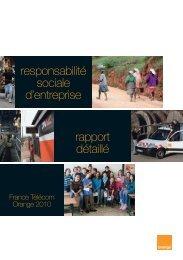 rapport RSE 2010 - Orange.com