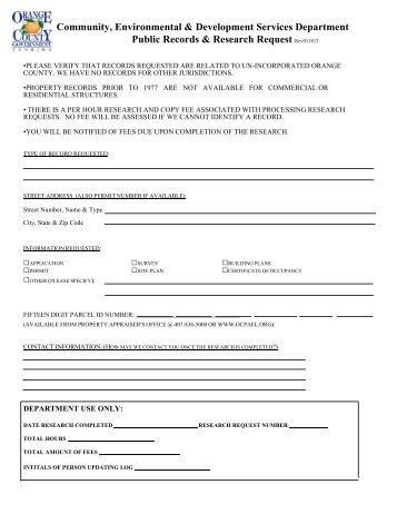 Records Request - Home | Orange County Gov FL