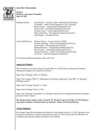 06-20-2012 Minutes - Home | Orange County Gov FL