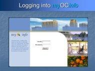 MyOCInfo User Guide - Orange County
