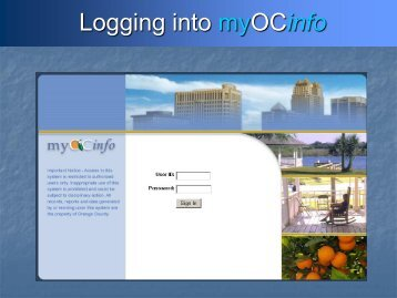 MyOCInfo User Guide - Orange County