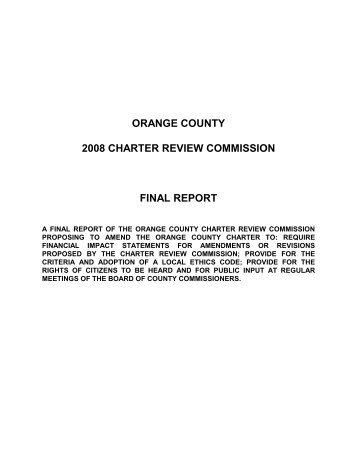 View the draft of the final report - Home | Orange County Gov FL