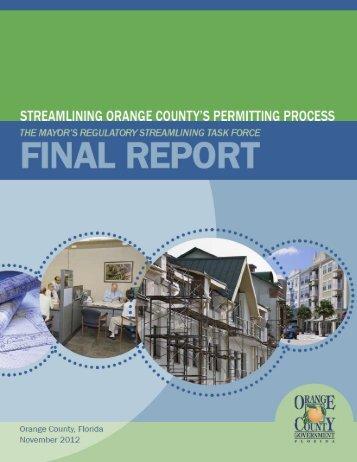 Final Report - Home | Orange County Gov FL