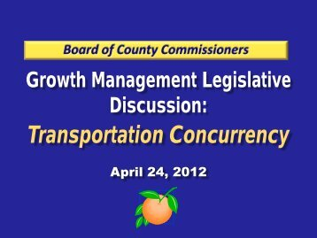 Transportation Concurrency - Orange County