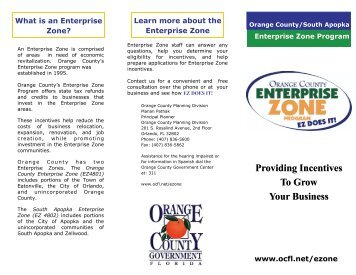 Enterprise Zone Brochure - OrangeCountyFl.net