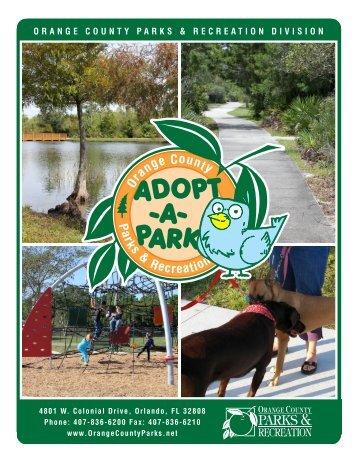 Adopt-A-Park Volunteer Service Application
